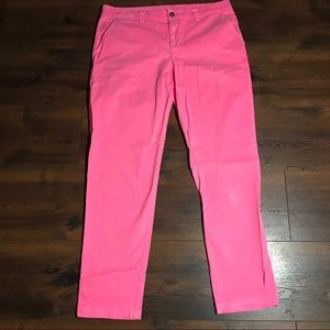 Gap Broken In Straight Pink khakis